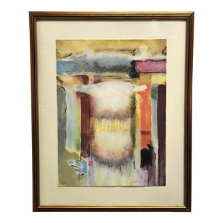 Late 20th Century Abstract Framed Color Lithograph Print For Sale
