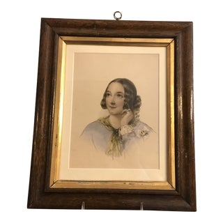 "Antique 1820s English ""Maid of Honour"" Hand Colored Engraving For Sale"