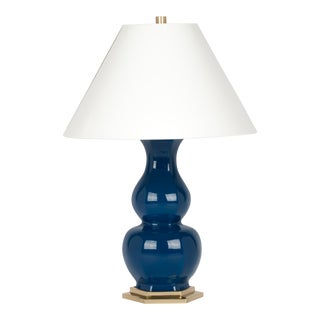 Christopher Spitzmiller Collection Sebastian Lamp in Midnight Blue / Polished Brass For Sale
