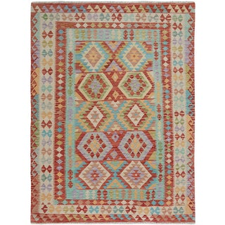 "Hand Knotted Traditional Design Uzbek Rug. 5'1"" X 6'5"" For Sale"