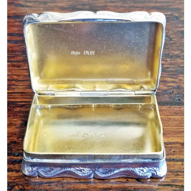 19c Sterling Silver Snuffbox Birmingham 1848 by Rolason Bros For Sale In Dallas - Image 6 of 13