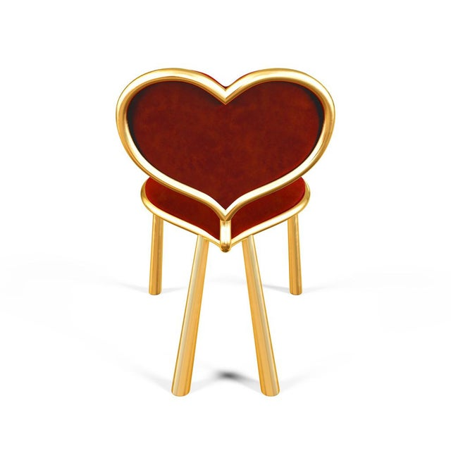 Not Yet Made - Made To Order Cast Bronze Heart Chair by Artist Troy Smith - Contemporary Design - Limited Edition For Sale - Image 5 of 8
