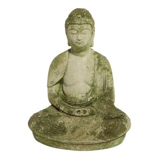 Cast Stone Seated Tibetan Buddha For Sale