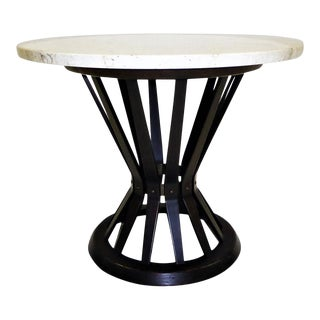 Edward Wormley for Dunbar Mid-Century Modern Sheaf of Wheat Marble Top End Table For Sale