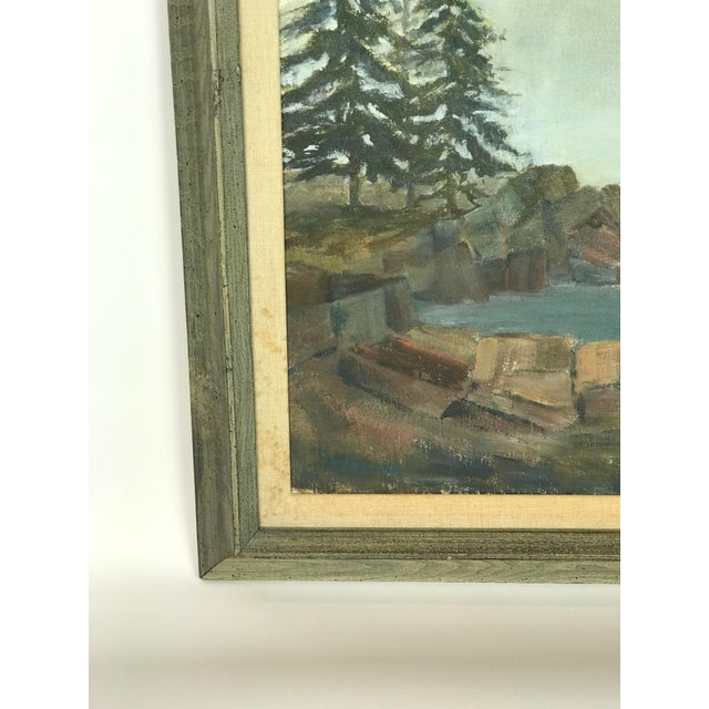 1960s Vintage Scenic Ocean Oil on Canvas Painting For Sale In Los Angeles - Image 6 of 11