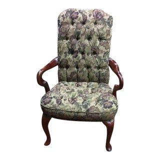 Vintage Tufted Arm Chair For Sale