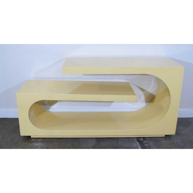 1980s 1980s Sculptural Console, Milo Baughman For Sale - Image 5 of 8