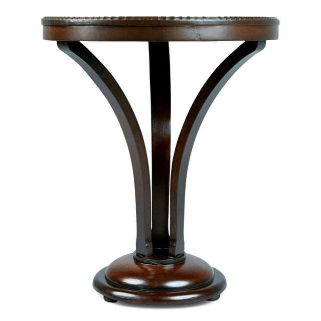 Art Deco 1930s John Graz Imbuia Wood Cocktail / Side Table, Brazil For Sale - Image 3 of 7