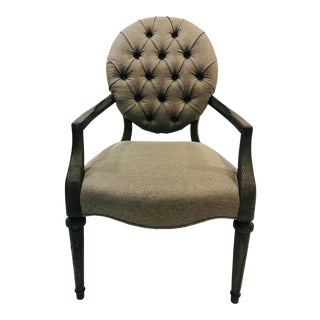 Modern Upholstered Dining Armchair For Sale
