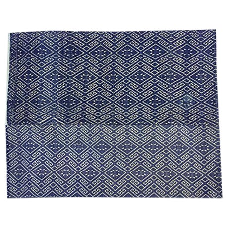 Hill Tribe Blue & White Dowry Wedding Quilt - Image 1 of 5