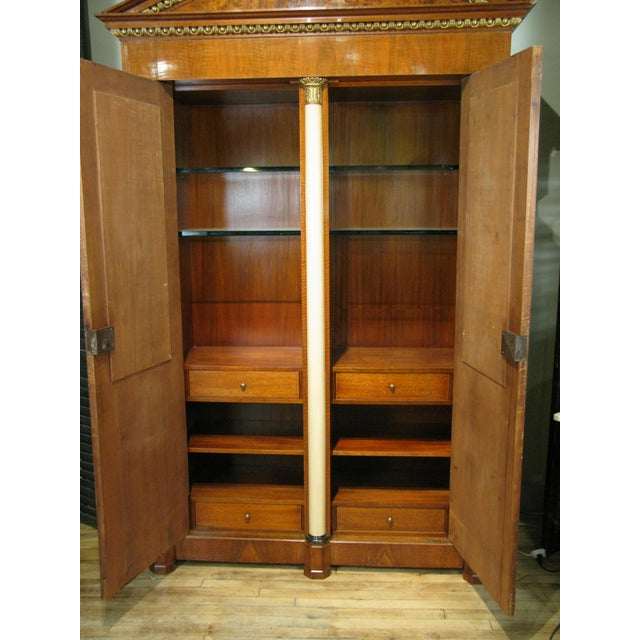 Biedermeier Antique 19th Century Biedermeier Cabinet With Fitted Interior For Sale - Image 3 of 9