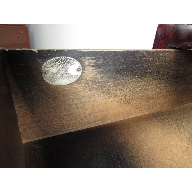 Metal Pair of Vintage Modern Baker Dressers by Michael Taylor For Sale - Image 7 of 10