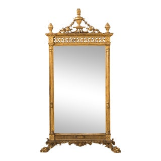 19th Century Water Gilded Mirror For Sale
