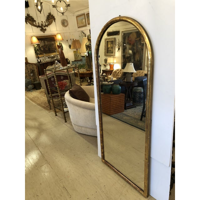 19th Century Antique Water Giltwood Arch Shaped Mirror For Sale - Image 10 of 11
