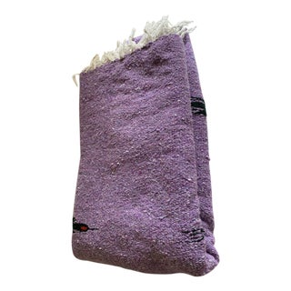 Boho Amethyst Blackbird Fringed Blanket, Throw For Sale