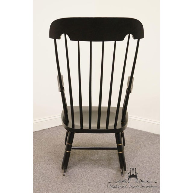 Wood Tell City Black and Gold Hitchcock Style Rocking Chair For Sale - Image 7 of 10