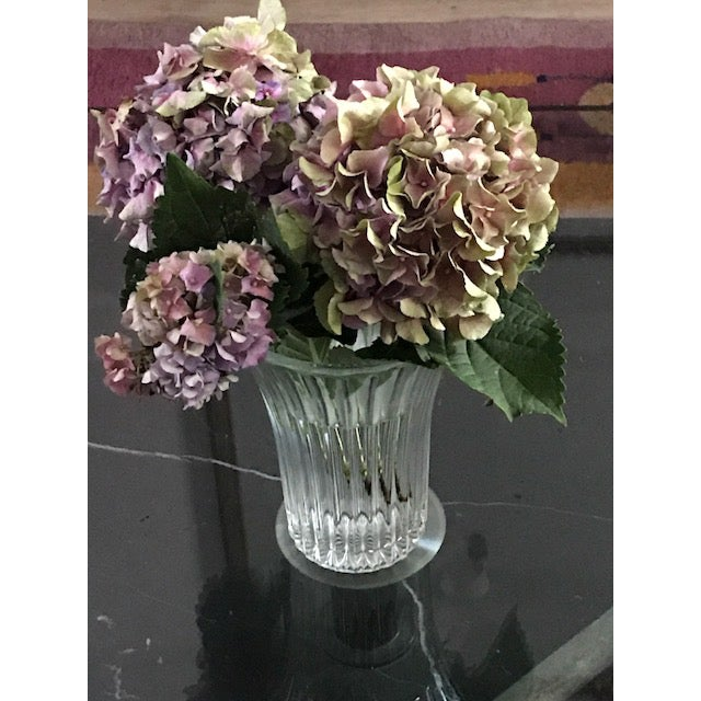 Art Deco Anchor Hocking Fluted Glass Vase For Sale - Image 3 of 7