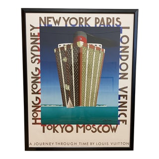 """Framed Razzia """"A Journey Through Time Louis Vutton"""" Lithograph For Sale"""