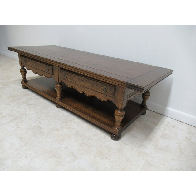 Ethan Allen Jacobean Royal Charter Oak Coffee Table For Image 4 Of