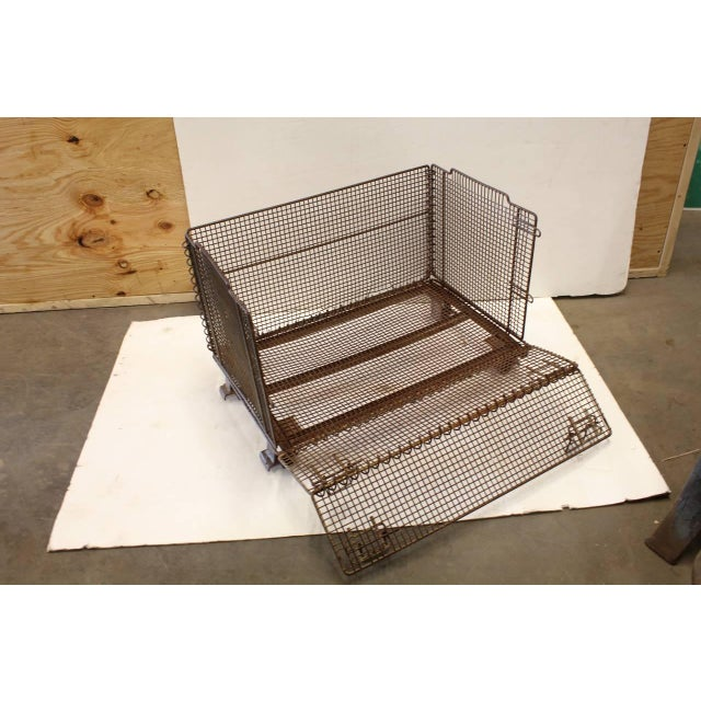 1930s 1930's Vintage American Industrial Collapsible Wire Baskets For Sale - Image 5 of 5
