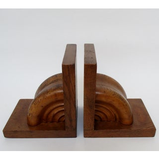 Turned Wood Bookends, a Pair Preview
