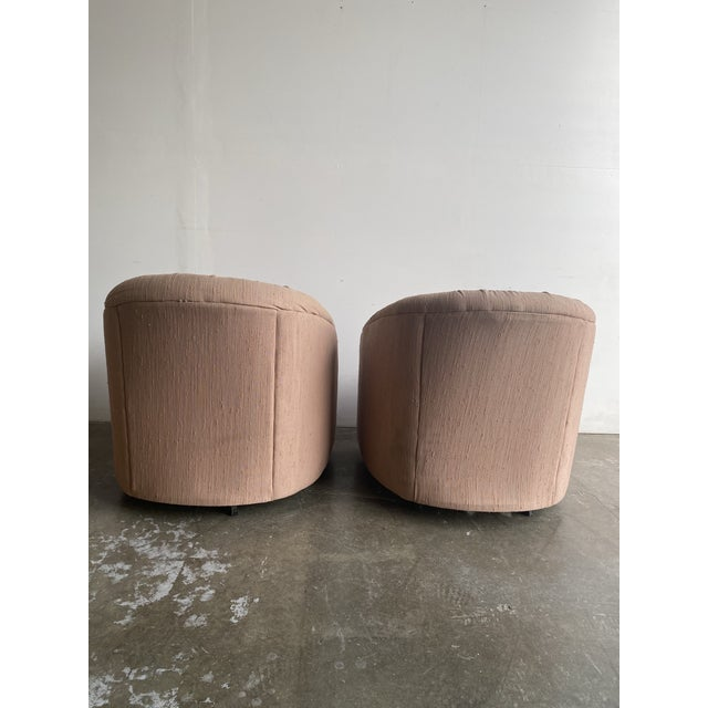 Pair of 1980s Barrel Chairs For Sale - Image 4 of 9