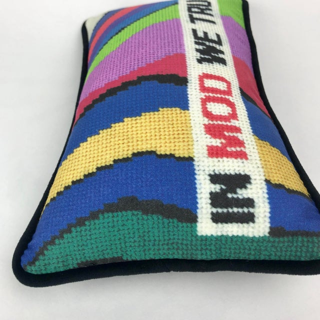 """2010s """"In Mod We Trust"""" Pillow For Sale - Image 5 of 9"""