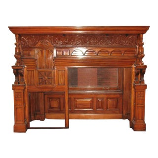 Owl Motif Maple Mantel