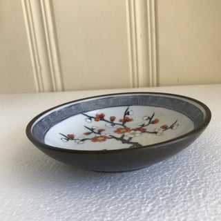 Vintage Handcrafted Asian Blossom Copper Tray Preview