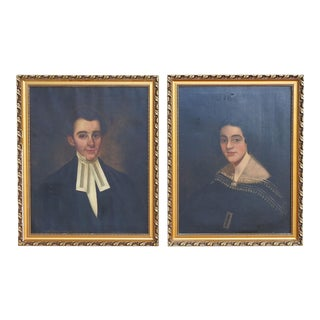 19th Century Portraits - a Pair For Sale