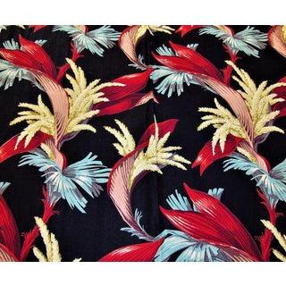 1930's Tropical South Beach Vintage Barkcloth Fabric Drape