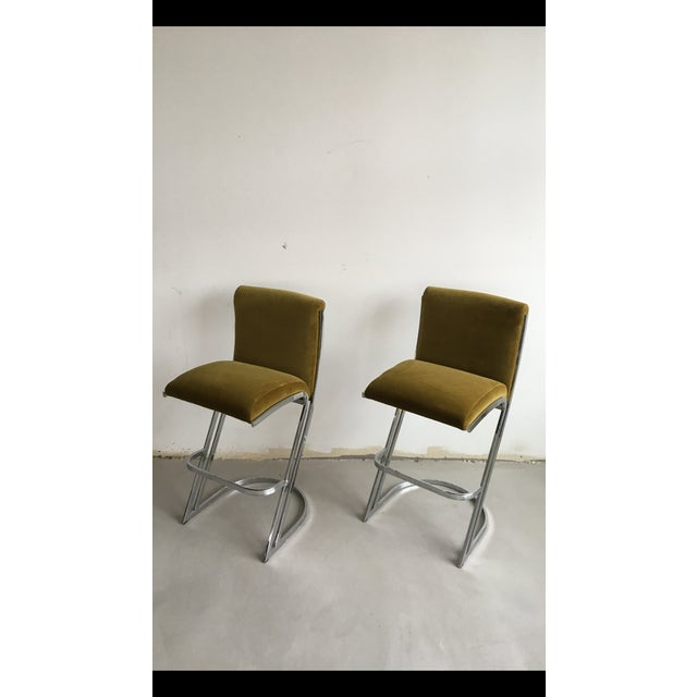 1970's Pierre Cardin Bar Stools - A Pair - Image 2 of 7