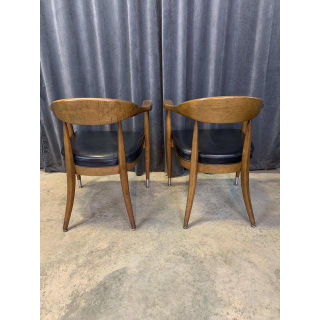 Boling Chair Company Mid-Century Modern Boling Chair Co. Sculptural Arm Chairs - a Pair For Sale - Image 4 of 12