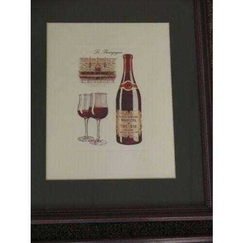Wine Theme Matted Prints - Set of 4 For Sale - Image 4 of 7