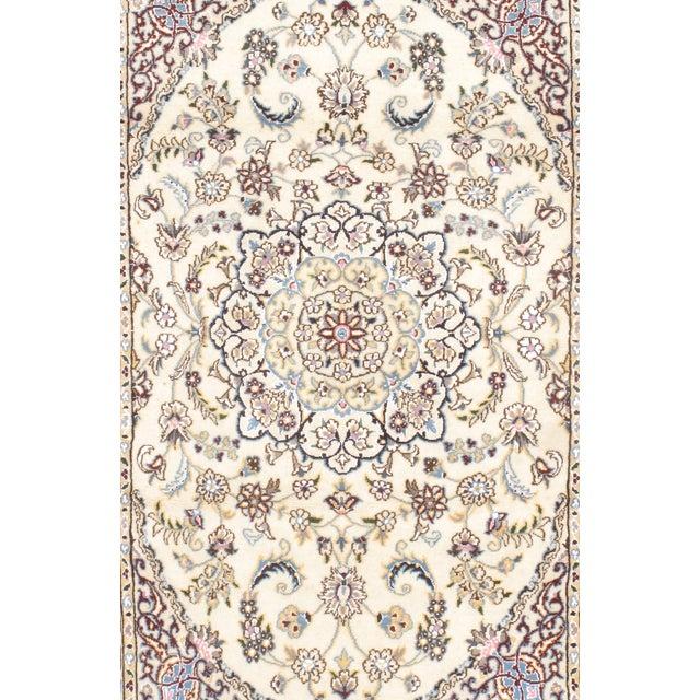 Fine Persian Nain Silk & Wool Rug - 3' X 5' - Image 2 of 2