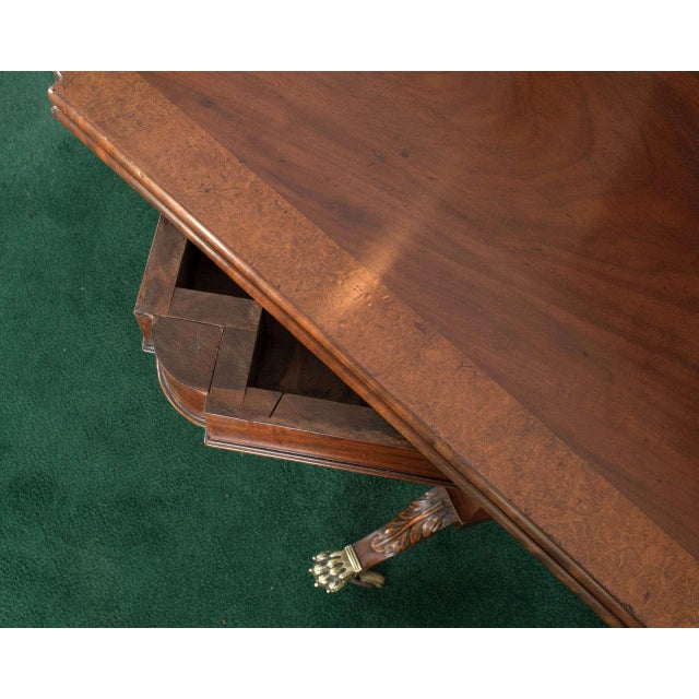 Federal Cross-Lyre Card Table For Sale - Image 9 of 10