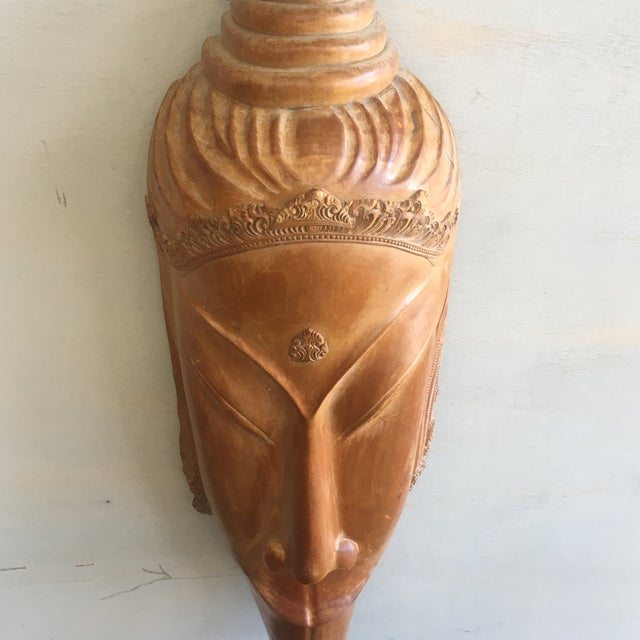 Southeast Asian Hand Carved Tribal Mask - Image 6 of 11