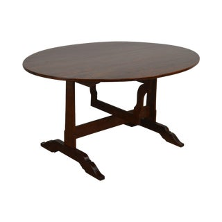 French Country Antique Wine Tasting Table For Sale