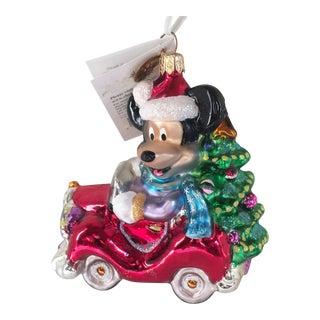 Christopher Radko Disney Cruisin Mickey Ornament