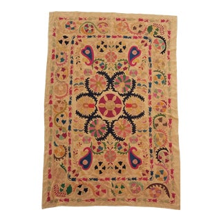 Hand Embroidered Suzani Quilt For Sale