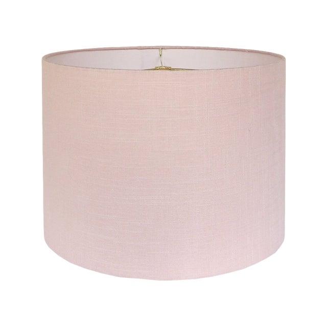 Medium Blush Linen Custom Lamp Shade For Sale