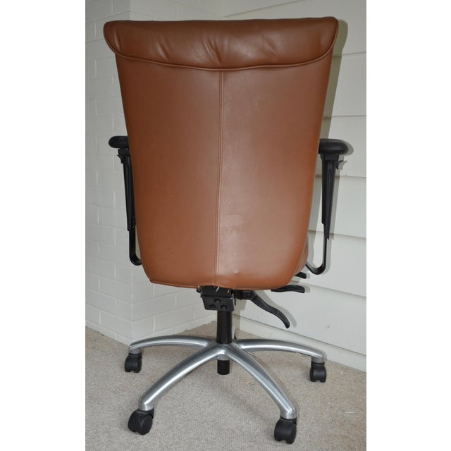 Modern Mid Century Brown Leather Office Chair Chairish