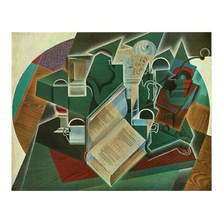 "1940s Juan Gris ""Book, Pipe and Glass"" Swiss Print For Sale"