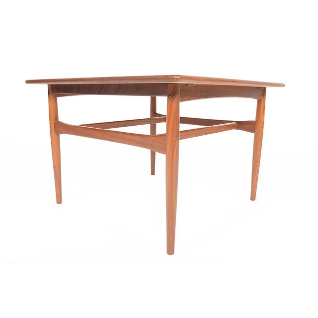 Mid-Century Danish Modern Square Teak Coffee Table - Image 4 of 8