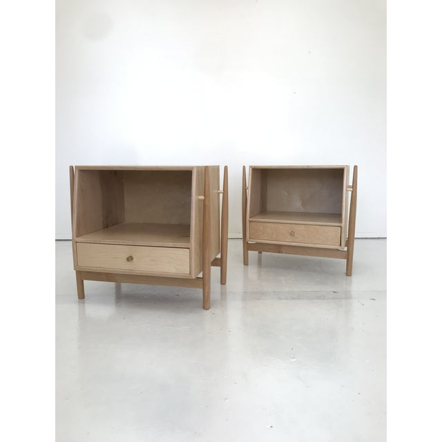 Handmade Sculptural Nighstands in Maple For Sale In Los Angeles - Image 6 of 13