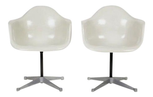 Vintage Eames For Herman Miller Armchairs, 1960s   A Pair