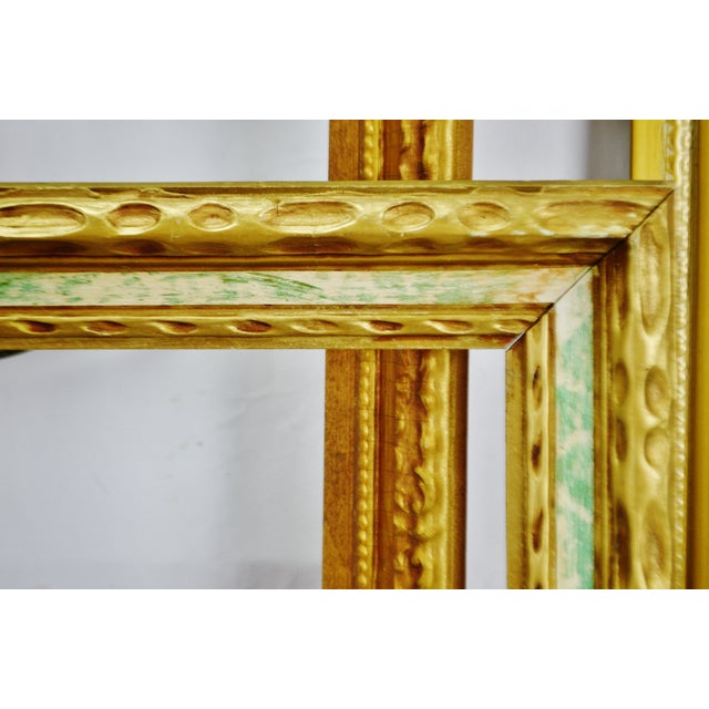 Gold Vintage Large Wood Picture Frames - Group of 5 For Sale - Image 8 of 13