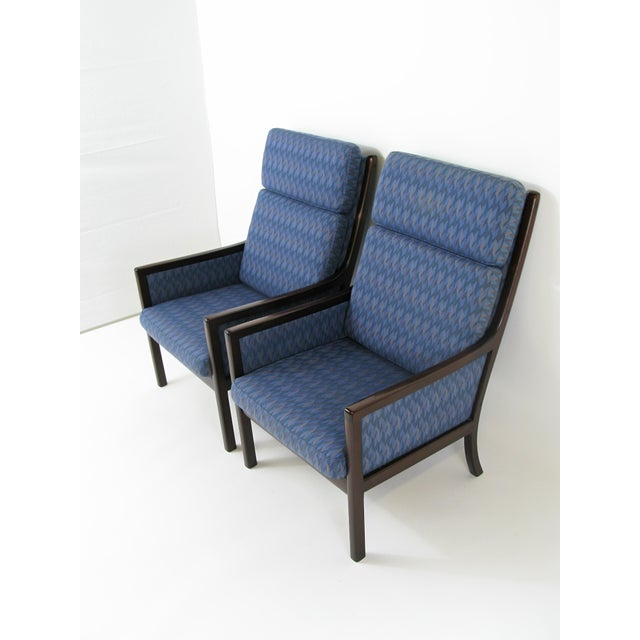 Danish Modern Lounge Chairs by Ole Wanscher for P. Jeppesen - Set of 3 - Image 3 of 8