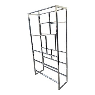 1970s Mid-Century Modern Milo Baughman Chrome Etagere For Sale
