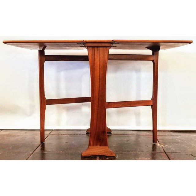 Mid-Century Scottish Modern Style Drop Leaf Table by Legate Scotland For Sale - Image 4 of 11